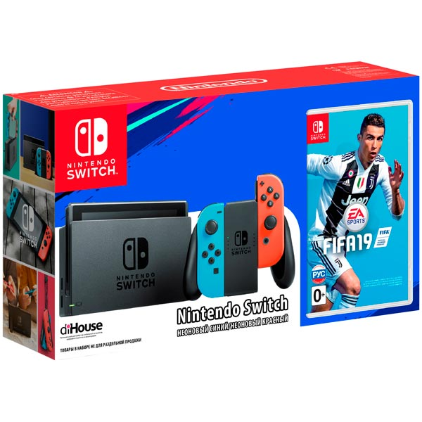 Nintendo Switch Red/Blue + FIFA 19